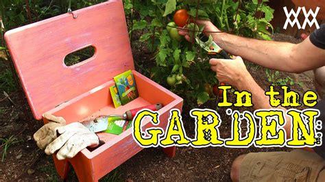 handy gardening stool  carries supplies fun outdoor