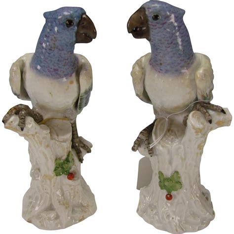 bird figurines antique italian ginori capodimonte porcelain bird parakeet