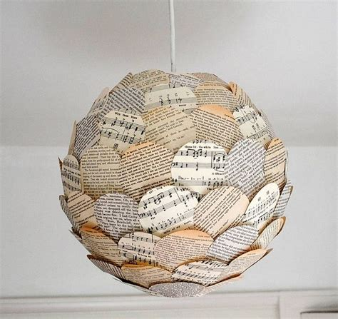 How To Make A Paper Light Shade - rhythm and read paper l shade