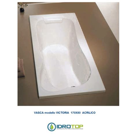 vasche acrilico vasca 170x80 incasso acrilico senza idromassaggio