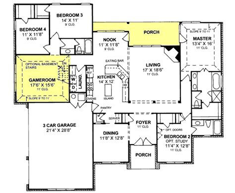 Traditional Plan 3 065 Square 4 Bedrooms 3 Traditional Style House Plans 2544 Square Foot Home 1