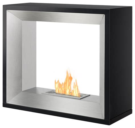 modern ethanol fireplaces tempo freestanding ethanol fireplace black modern