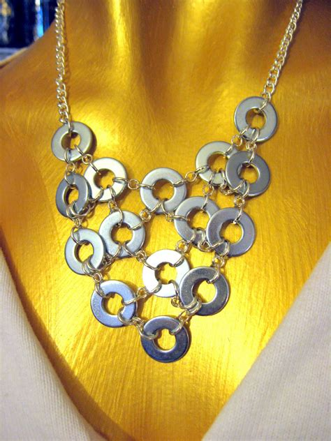 Custom Handcrafted Jewelry - washer necklace tutorial washer necklace washer