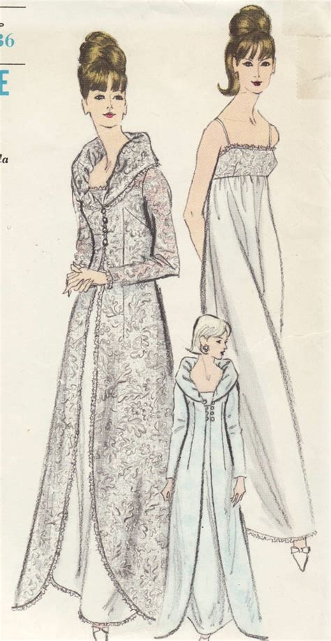 vintage pattern wedding dress vintage sewing pattern glamorous 1960s gown dress