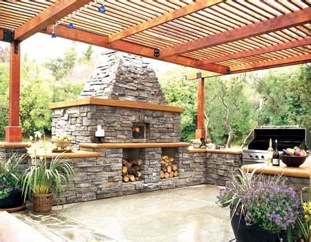 outdoor kitchen roof ideas outdoor kitchens designs with wooden roof and fireplace