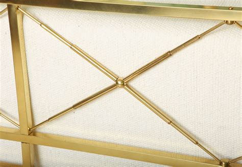 brass headboard king 50 s directoire style brass king headboard at 1stdibs