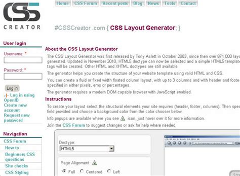 html and css layout generator 40 excellent yet free css tools and generators for
