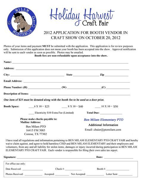 application letter fair pto announcements ben milam elementary pto