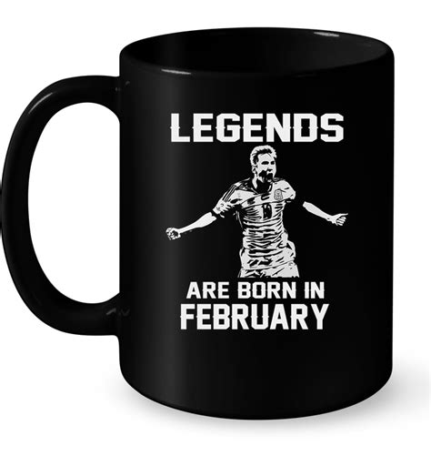 legends are born in february lionel messi t shirt buy
