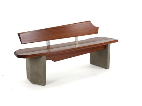 wood bench outdoor nico yektai outdoor bench 5 wood and concrete bench