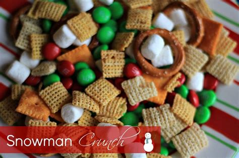 snowman crunch fun party mix for the kiddos recipe