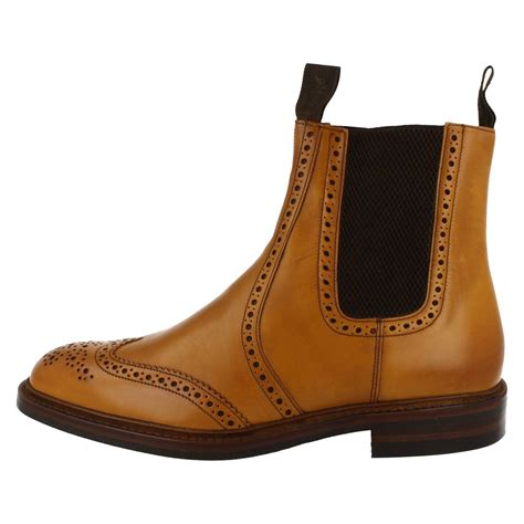 loake mens boots mens loake brogue ankle boots style thirsk ebay