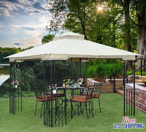 outdoor canopy fabric metal fabric gazebo canopy outdoor patio tent garden cover