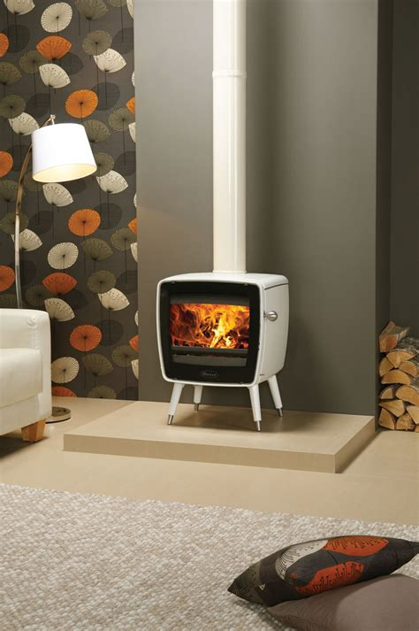 dovre vintage 35 in white enamel with stovax ivory