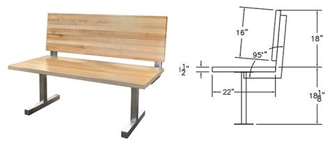 what is standard bench height standard bench height and depth benches