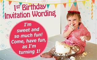 Invitation Letter 1st Birthday 16 Great Exles Of 1st Birthday Invitation Wordings