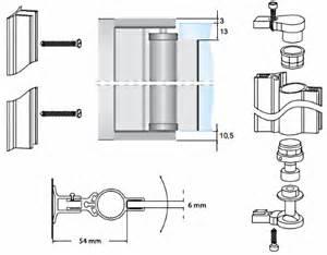 aluminium pivot hinge for 6mm glass shower door no