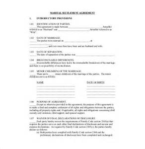 Settlement Agreement Template Uk by 10 Divorce Agreement Templates Free Sle Exle