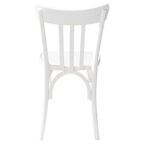 chaise en bois blanche cus maisons du monde