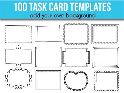 100 Task Card Templates Editable Flash Card Templates By Alinavdesign Teaching Resources Tes Task Card Template