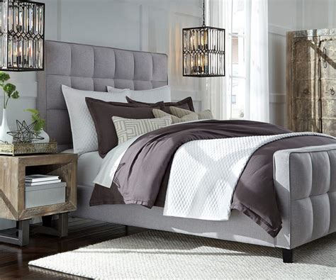 grey upholstered bed gray upholstered bed perfect for modern decoration med art home design posters