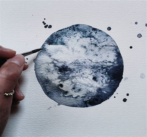 watercolor moon tutorial dreamy watercolor drawings of the moon by michal friese