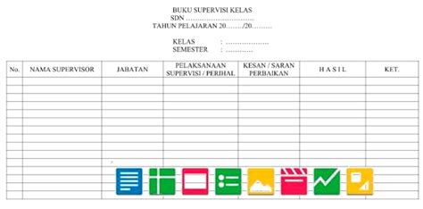 download format buku word download format buku supervisi kelas berkas sekolah