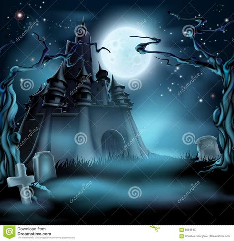 spooky cloud has locals fearing spooky castle stock vector image 56845407