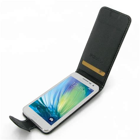 Leather Samsung Galaxy A3 samsung galaxy a3 leather flip carry pdair wallet sleeve pouch