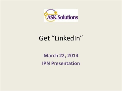Linkedin Webinar Mba Internship by Created For Ipn Global Webinar Quot Managing Your Professional