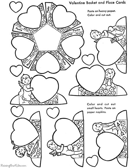 Valentine Craft For Kid 003 Coloring Pages And Crafts