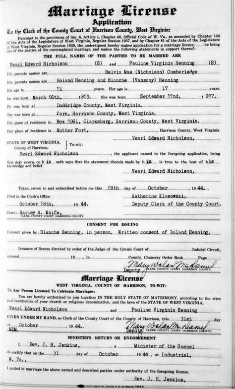 Social Security Office Clarksburg Wv by Vearl Edward Nicholson Pauline Virginia Henning