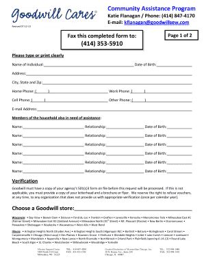 clothing donation form template clothes vouchers fill printable fillable