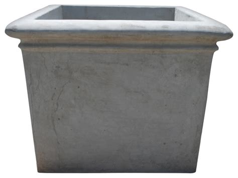 concrete square rolled rim modern outdoor pots and
