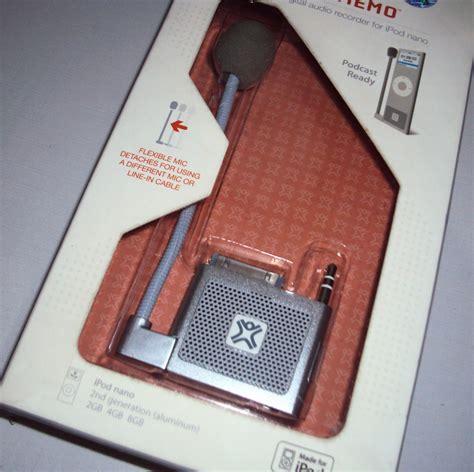 The Ipod Nano Takes A Micro Memo by Microfone Para Ipod Nano 2g Xtrememac Micromemo Silver R