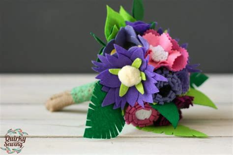 Handmade Flower Bouquets - felt wedding bouquet alternative wedding bouquet felt