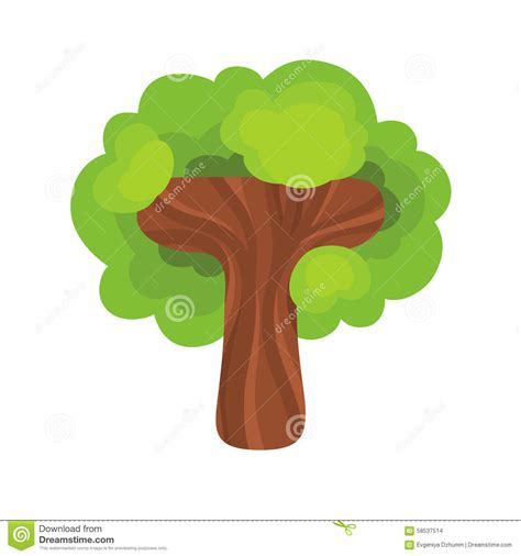 t is for tree a letter of the week preschool craft letter t in the form of a tree stock vector image 58537514
