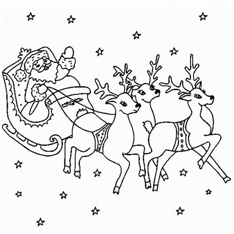 coloring pages reindeer and sleigh santa claus coloring pages