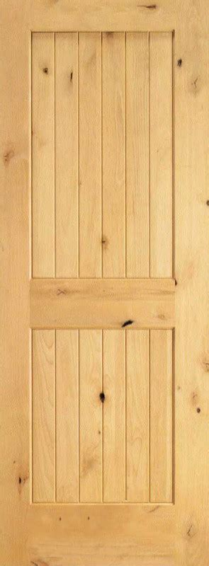 interior plank knotty alder wood door