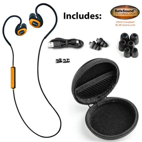 Jete Headset Bluetooth Earphone Bluetooth Frist Move Orange isotunes pro it 01 osha compliant noise isolating