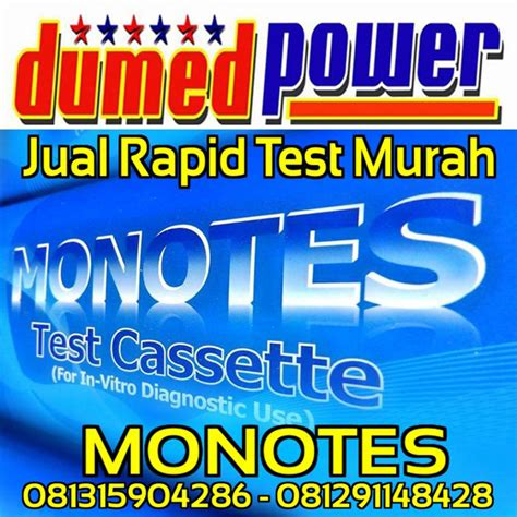 jual monotes rapid test murah alat uji screening tes