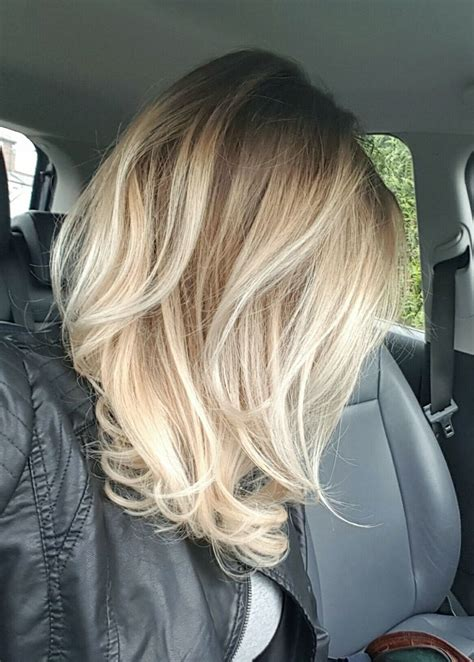 shoulder length with balage ombrey 17 best ideas about mid length hairstyles on pinterest
