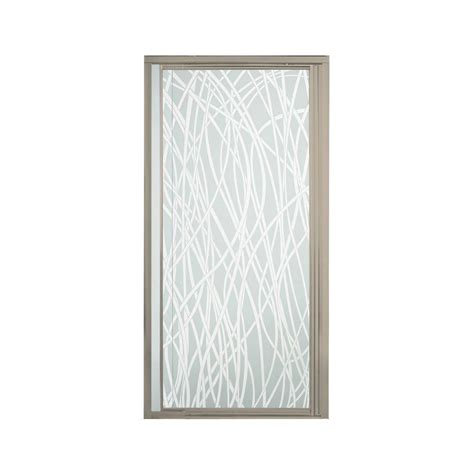 Framed Pivot Shower Door Sterling Vista Pivot Ii 48 In X 65 1 2 In Framed Pivot Shower Door In Nickel With Glass