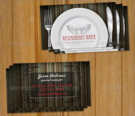 restaurant business cards templates free 50 attractive business card psd templates creative