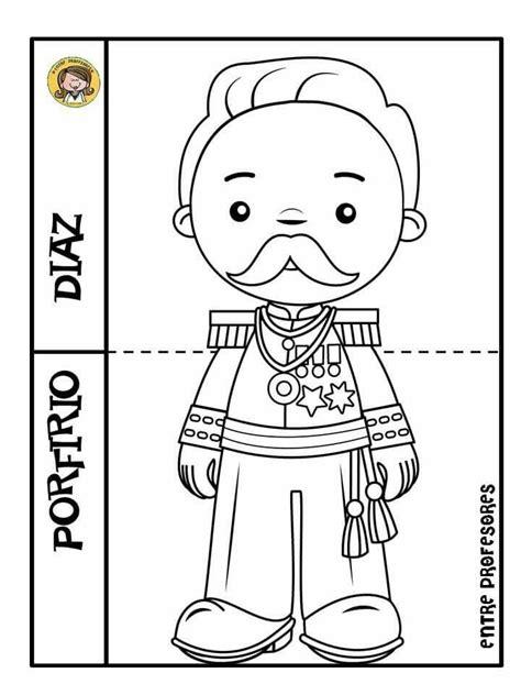 Porfirio Díaz | Revolucion mexicana para colorear