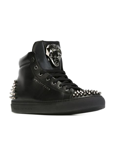 philipp plein sneakers philipp plein spike studded leather high top sneakers in