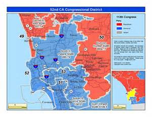 california 52nd congressional district map california 52nd congressional district peters d