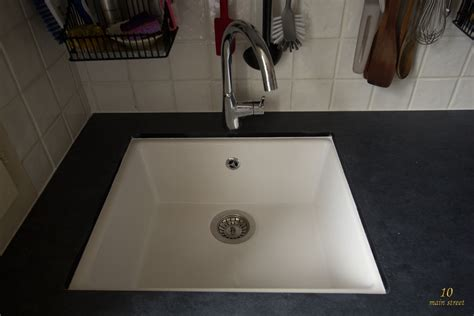 Undermount single bowl Ikea Domsjö sink for a vintage