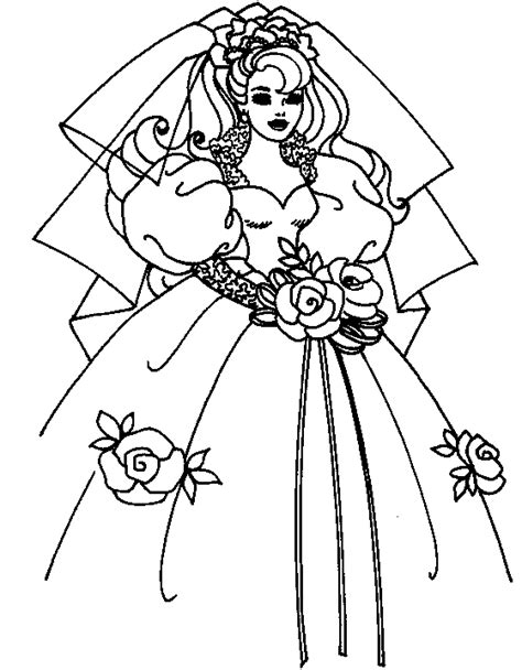barbie coloring page barbie wedding all kids network