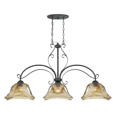 Shop Millennium Lighting Chatsworth 45.5 in W 3 Light Burnished Gold Kitchen Island Light with